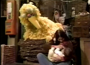 Breastfeeding on Sesame Street - 1977