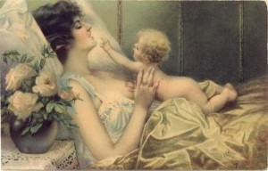 Victorian Era Mother and Baby