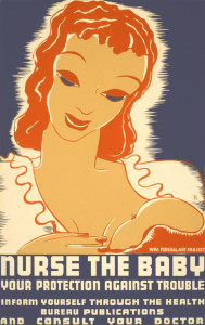 WPA Breastfeeding Advocacy Poster - 1930s
