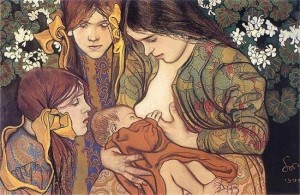 Wyspiański - Breastfeeding Painting - 1905